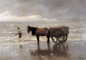 Horse and Cart by Anton Mauve