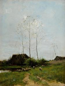 Landscape with Shepherd and Sheep by Anton Mauve