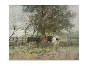 Milking Time, c1858-1888, (1906-7) by Anton Mauve
