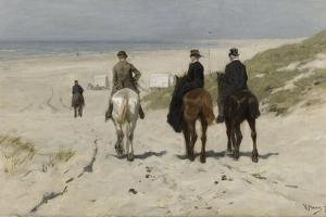 Morning Ride Along the Beach, Anton Mauve by Anton Mauve