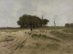 On the Heath Near Laren by Anton Mauve