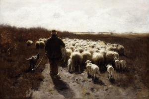 Return of the Flock by Anton Mauve