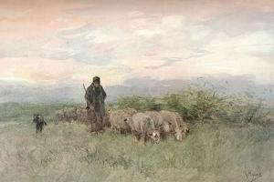 'Shepherd and Flock', 19th century by Anton Mauve