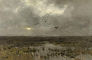 The Marsh, C. 1885-88 by Anton Mauve