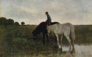 Watering Horses, 1871, (1913) by Anton Mauve