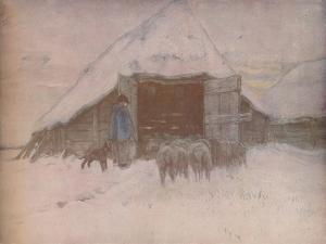 'Winter', c1870, (1918) by Anton Mauve