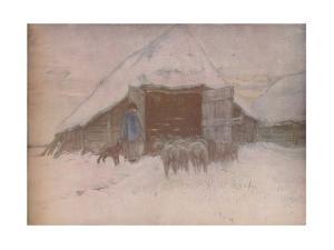 'Winter', c1870, (1918) by Anton Mauve