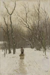 Winter in Scheveningen Bushes by Anton Mauve