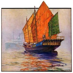 """""""Chinese Junk,""""May 30, 1931 by Anton Otto Fischer"""