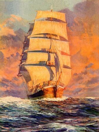 John Brett RARE NEW SAILING SHIP POSTER Off the Coast