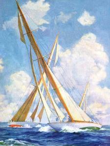 """""""Sailboat Regatta,""""September 8, 1934 by Anton Otto Fischer"""