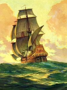 """""""Spanish Galleon,""""March 30, 1935 by Anton Otto Fischer"""