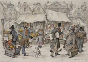 Christmas Market by Anton Pieck