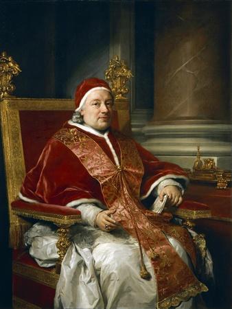 Portrait of Pope Clement XIII Rezzonico, 1758