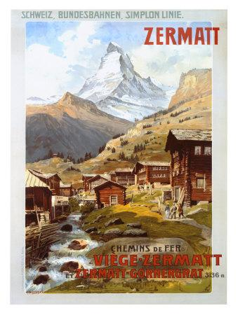 Swiss Alps, Zermatt Matterhorn