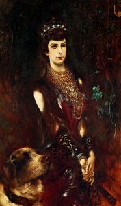 Empress Elizabeth of Bavaria by Anton Romako