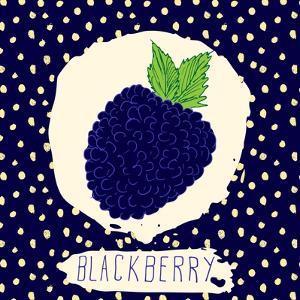 Blackberry with Dots Pattern by Anton Yanchevskyi