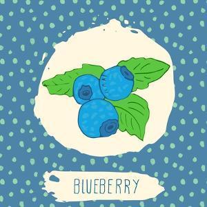 Blueberry with Dots Pattern by Anton Yanchevskyi