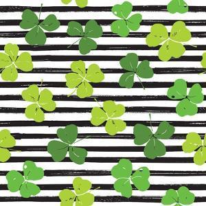 Clover Leaf Illustration - St Patricks Day by Anton Yanchevskyi