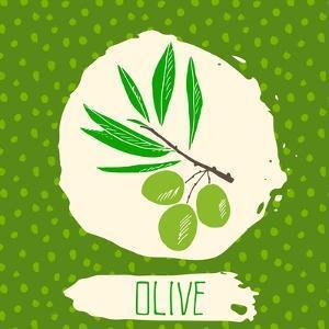 Olive with Dots Pattern by Anton Yanchevskyi