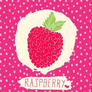 Raspberry with Dots Pattern by Anton Yanchevskyi