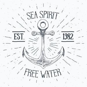 Sea Spirit - Sketched Anchor by Anton Yanchevskyi