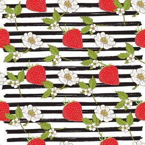 Strawberry Illustration by Anton Yanchevskyi