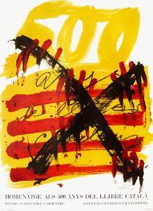 Expo 74 - 500 anys del Llibre Catala by Antoni Tapies