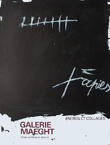 Expo Encres et collages by Antoni Tapies