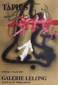 Expo Galerie Lelong 88 by Antoni Tapies
