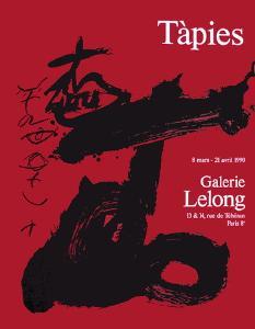 Expo Galerie Lelong 90 by Antoni Tapies