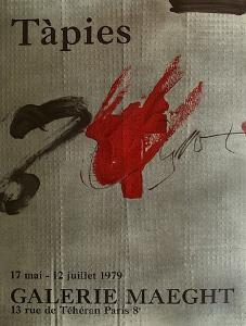 Expo Galerie Maeght 79 by Antoni Tapies