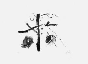 Noir sur fond blanc by Antoni Tapies