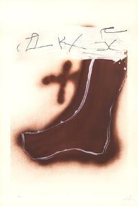 Pied marron by Antoni Tapies