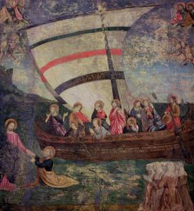 "Christ Walking on the Water, after the ""Navicella"" by Giotto by Antoniazzo Romano"