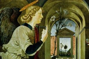 Detail of the Archangel Gabriel from The Annunciation by Antoniazzo Romano