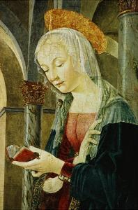 Detail of the Virgin Mary from The Annunciation by Antoniazzo Romano