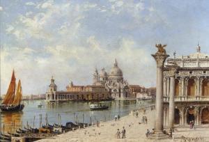A View of the Piazzetta and Santa Maria della Salute, Venice by Antonietta Brandeis