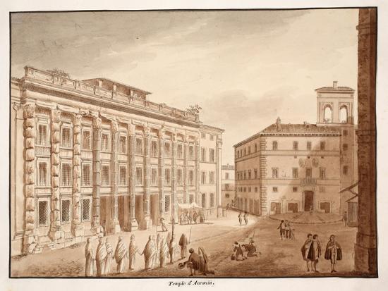 Antonine Temple, 1833-Agostino Tofanelli-Giclee Print