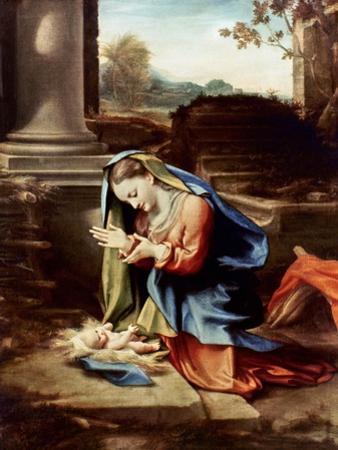 Adoration Of The Child by Antonio Allegri Da Correggio