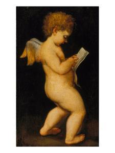 Reading Cherub by Antonio Allegri da Correggio (After)