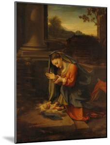 Our Lady Worshipping the Child by Antonio Allegri Da Correggio