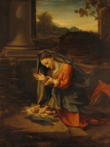 Our Lady Worshipping the Child by Antonio Allegri Da Correggio