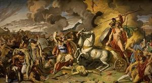 Death of Hector and Triumph of Achilles, 1815, Ceiling, Mars Salon by Antonio Calliani