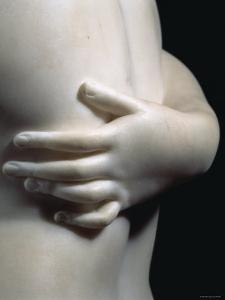 Close-Up an Arm Around the Body of One of the Three Graces, in Smooth White Marble, c.1814 by Antonio Canova