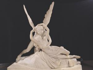 Psyche Revived by the Kiss of Love, 1787-93 by Antonio Canova