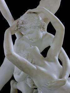 Psyche Revived by the Kiss of Love (Detail) by Antonio Canova