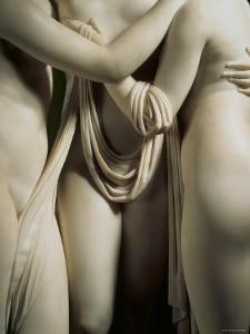 The Three Graces, Lower Part of Statue in White Marble, c.1814-17 by Antonio Canova