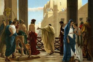 Ecce Homo, after painting by Antonio Ciseri -Bible by Antonio Ciseri