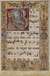 The Gradual. Initial R: the Resurrection, C. 1500 by Antonio da Monza